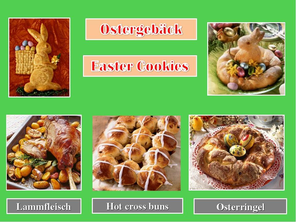 Hot cross buns Osterringel Lammfleisch