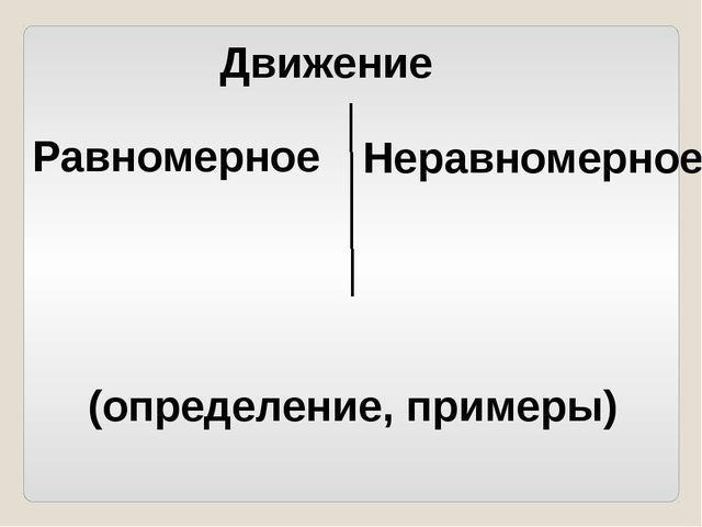 Равномерное Движение Неравномерное (определение, примеры)