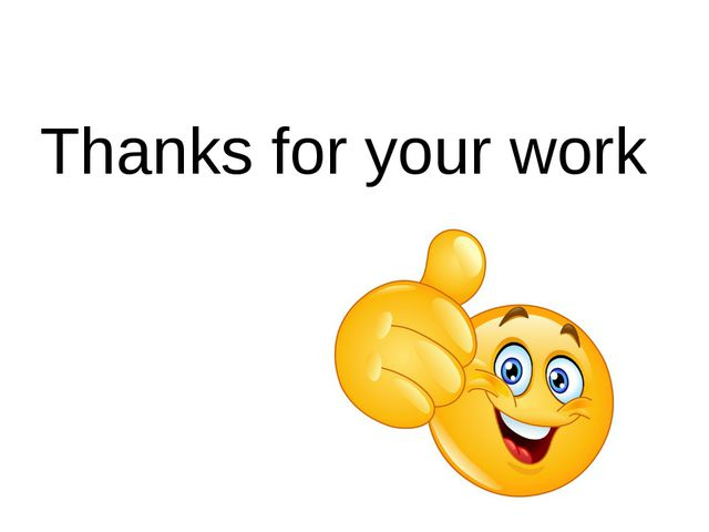 Thanks for your work