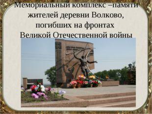 Мемориальный комплекс –памяти жителей деревни Волково, погибших на фронтах В