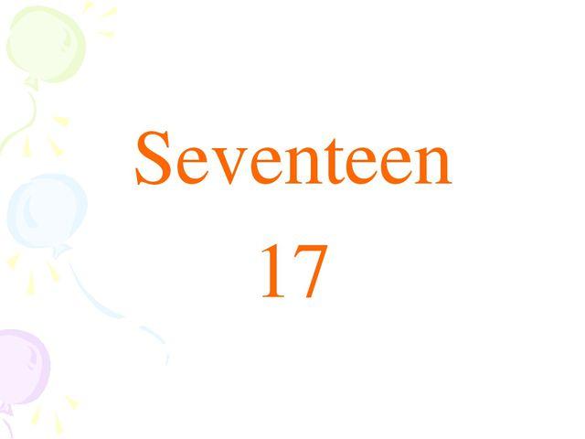 Seventeen 17