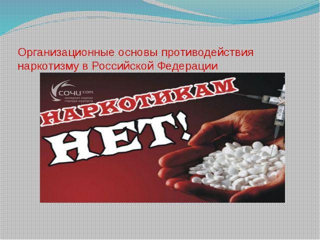 Организационные основы противодействия наркотизму в Российской Федерации