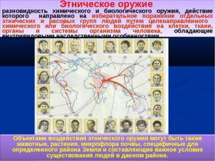Этническое оружие разновидность химического и биологического оружия, действие