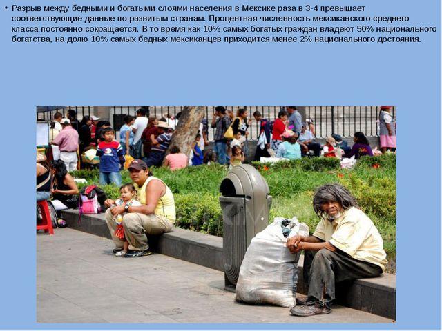 Разрыв между бедными и богатыми слоями населения в Мексике раза в 3-4 превыша...