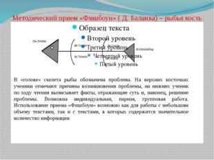 Методический прием «Фишбоун» ( Д. Баланка) – рыбья кость В «голове» скелета р