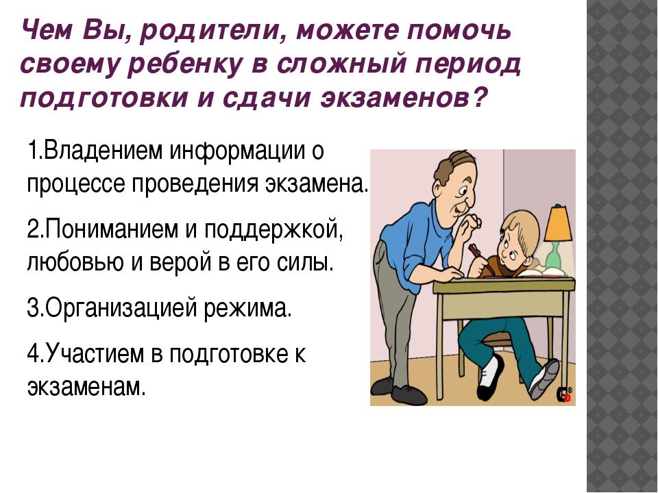 Чем Вы, родители, можете помочь своему ребенку в сложный период подготовки и...
