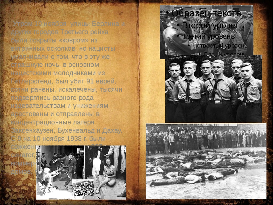 Утром 10 ноябряулицы Берлина и других городов Третьего рейха были покрыты...