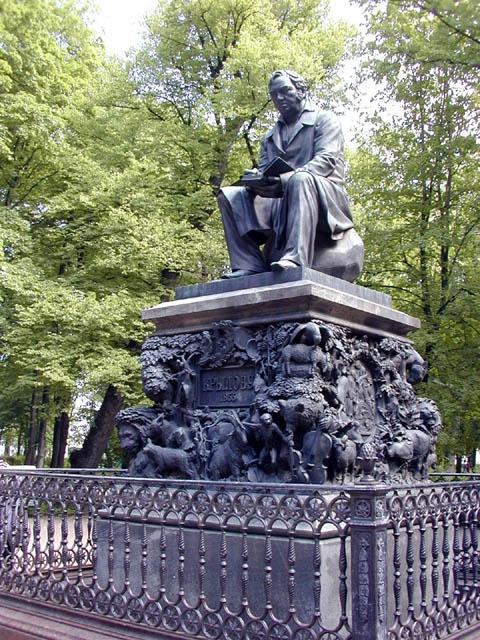 памятник крылову в петербурге