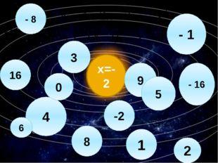 х=-2 - 8 - 16 - 1 4 3 0 2 9 8 16 1 -2 6 5