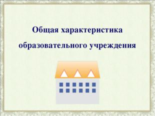 Общая характеристика образовательного учреждения