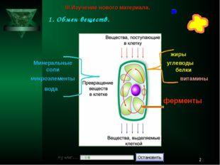 * белки жиры углеводы микроэлементы вода Минеральные соли витамины ферменты I