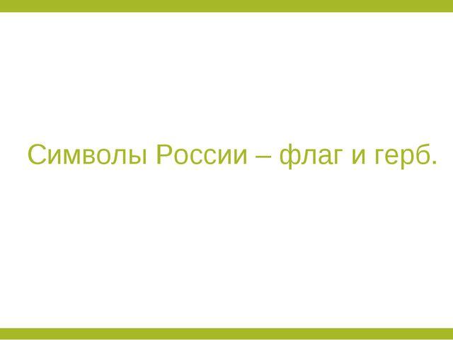 Символы России – флаг и герб.