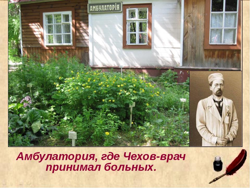 Амбулатория, где Чехов-врач принимал больных.