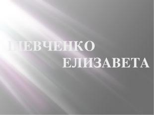 ШЕВЧЕНКО ЕЛИЗАВЕТА
