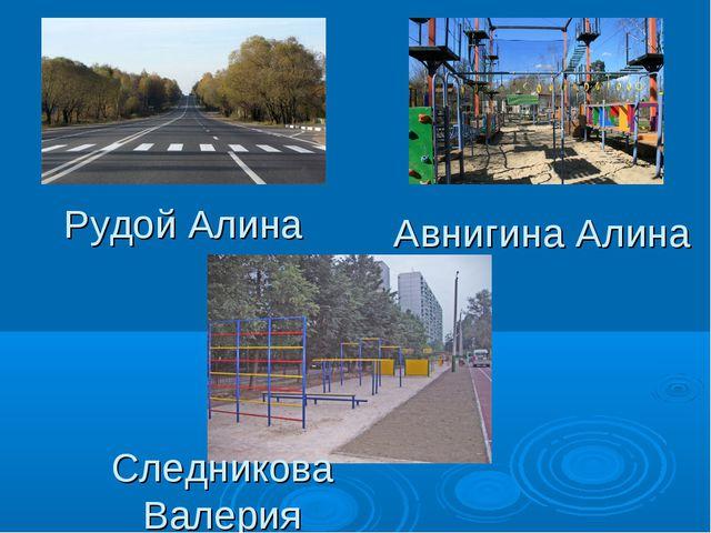 Рудой Алина Авнигина Алина Следникова Валерия