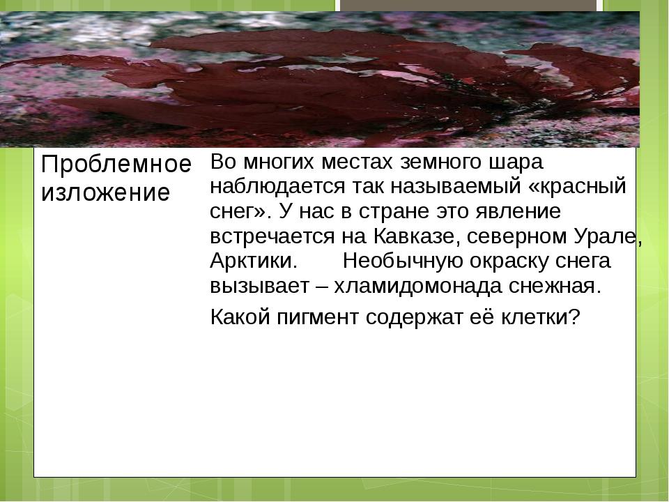 Проблемное изложение Вомногих местах земного шара наблюдается так называемый...