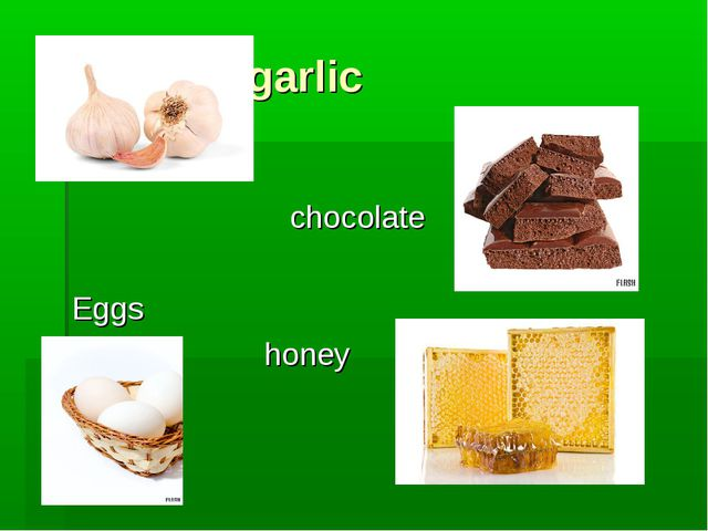 garlic chocolate Eggs honey