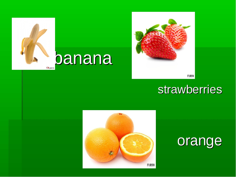 banana strawberries orange