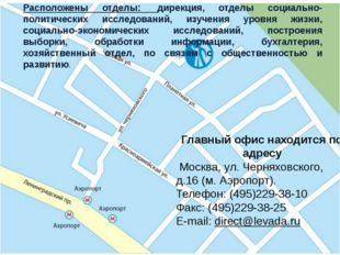 Контактная информация Расположены отделы: дирекция, отделы социально-политич