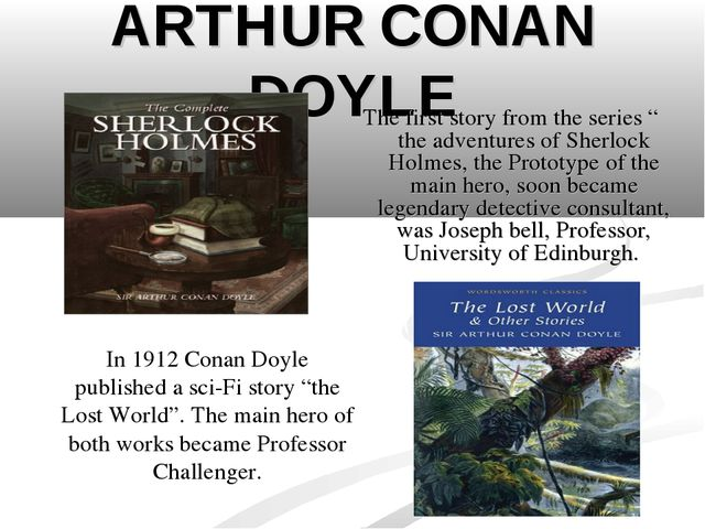 """ARTHUR CONAN DOYLE The first story from the series """" the adventures of Sherlo..."""