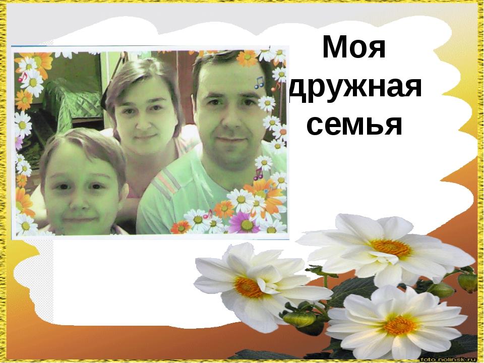 Моя дружная семья