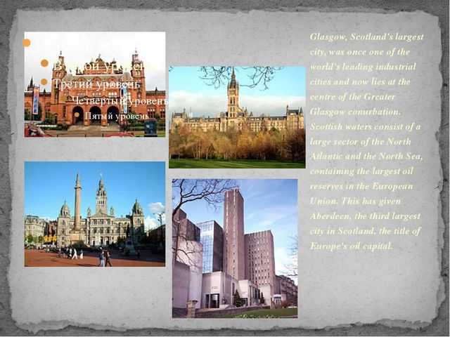 Glasgow, Scotland's largest city, was once one of the world's leading industr...
