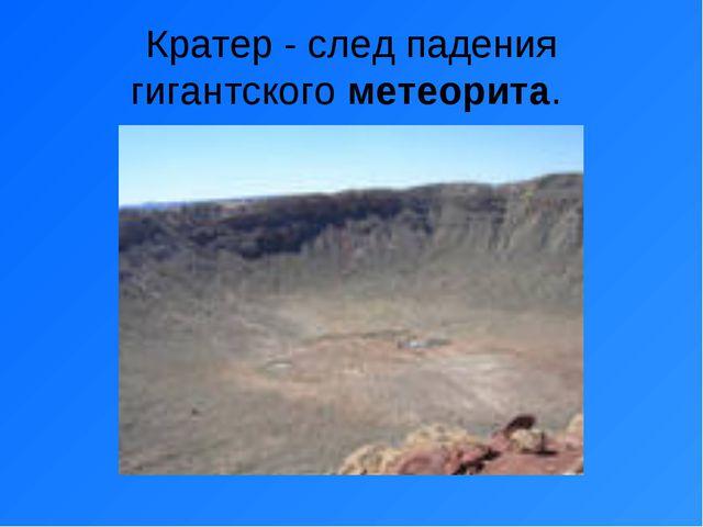 Кратер - след падения гигантского метеорита.