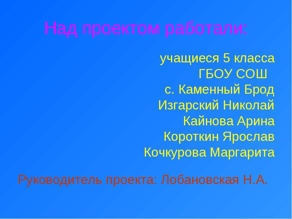 учащиеся 5 класса ГБОУ СОШ с. Каменный Брод Изгарский Николай Кайнова Арина К...