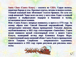 Santa Claus (Санта Клаус) – коллега из США. Седые волосы, опрятная борода и у
