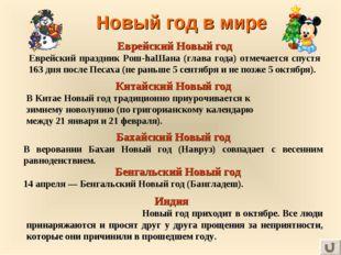 Новый год в мире Еврейский Новый год Еврейский праздник Рош-hаШана (глава год