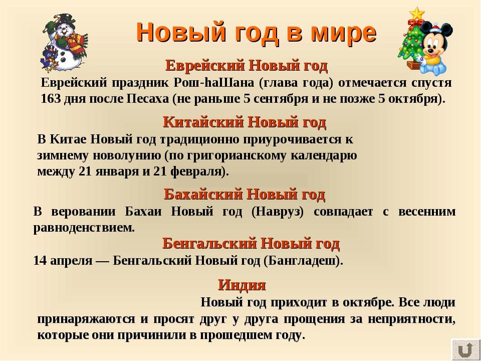 Новый год в мире Еврейский Новый год Еврейский праздник Рош-hаШана (глава год...