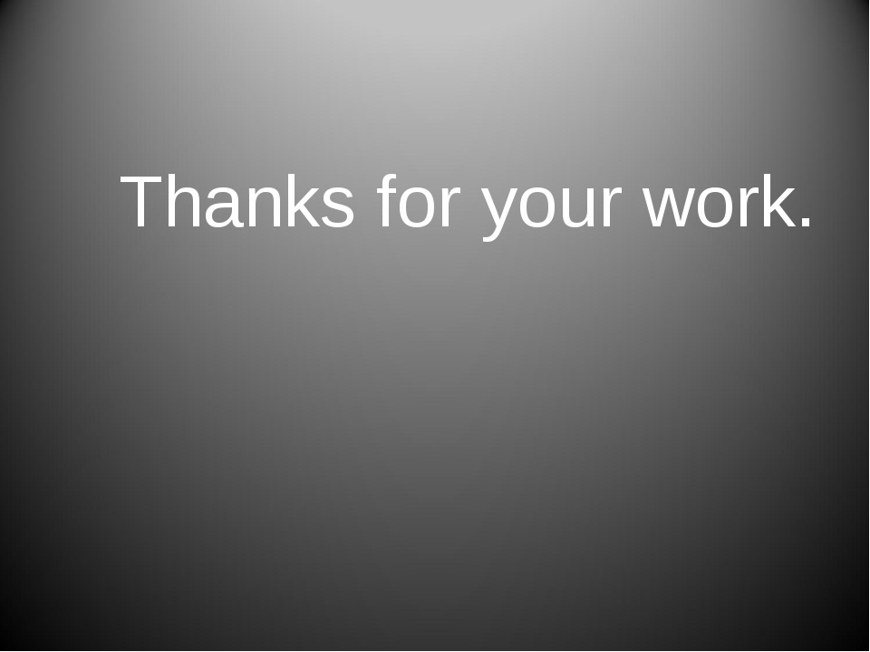 Thanks for your work.