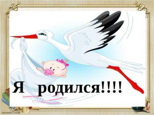 Я родился!!! Я родился!!!!