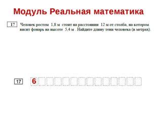 Модуль Реальная математика 6