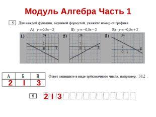 Модуль Алгебра Часть 1 2 I 3 2 I 3