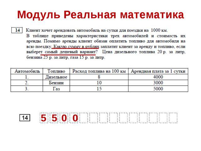 Модуль Реальная математика 5 5 0 0