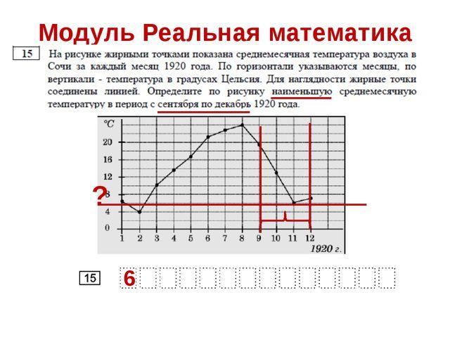 Модуль Реальная математика 6 ?