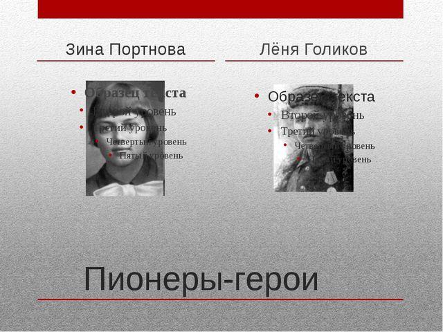 Пионеры-герои Зина Портнова Лёня Голиков