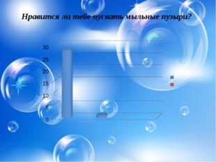 Нравится ли тебе пускать мыльные пузыри?