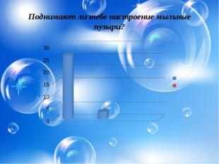 Поднимают ли тебе настроение мыльные пузыри?
