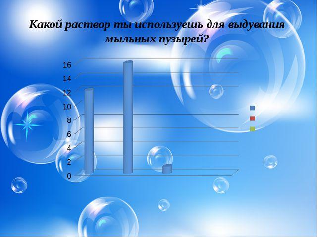 Какой раствор ты используешь для выдувания мыльных пузырей?