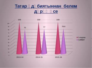 Татар әдәбиятыннан белем дәрәҗәсе