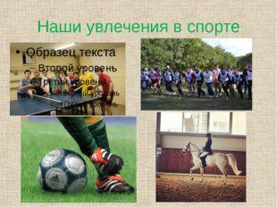Наши увлечения в спорте
