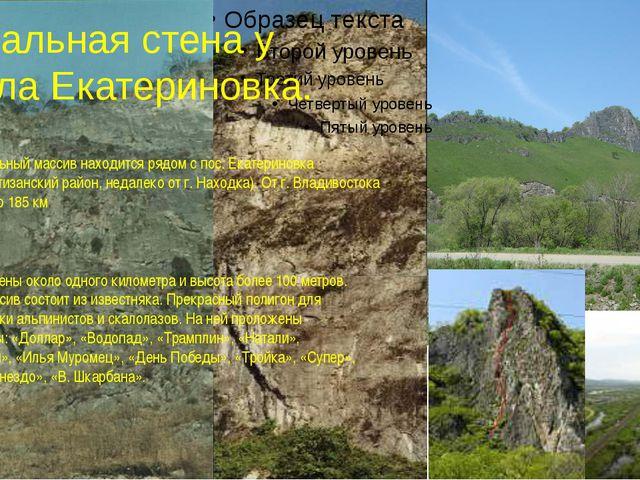 Скальная стена у села Екатериновка. Скальный массив находится рядом с пос. Е...