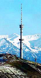 Кок-Тобе телевизионная башня. Города Казахстана