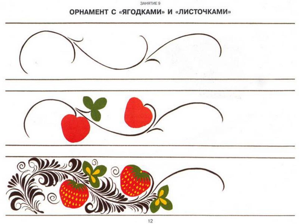 Шаблоны хохломской росписи для детей