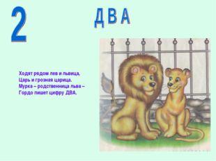 Ходят рядом лев и львица, Царь и грозная царица. Мурка – родственница льва –