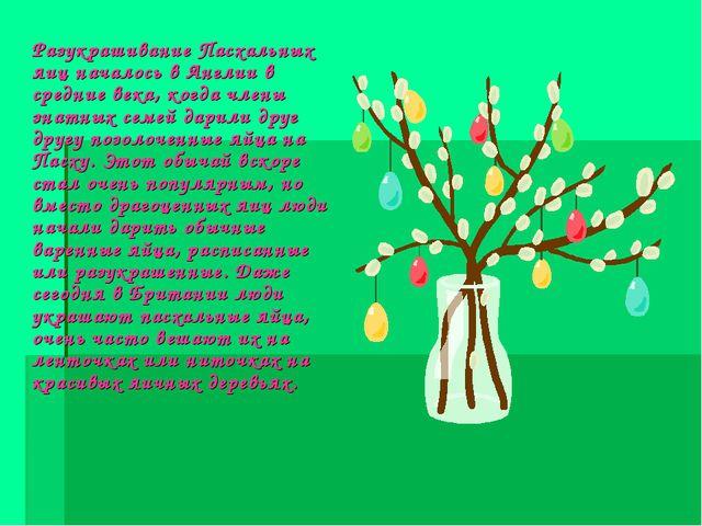 Разукрашивание Пасхальных яиц началось в Англии в средние века, когда члены...