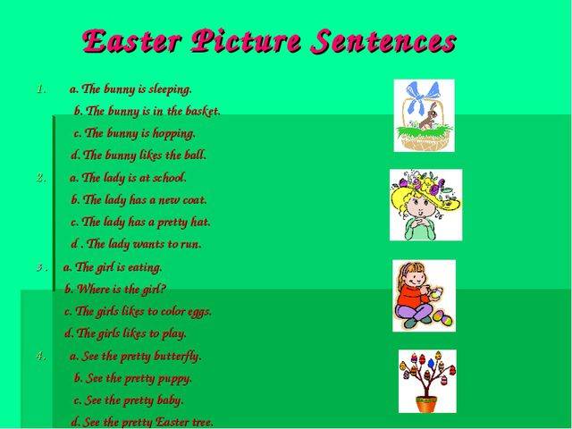 Easter Picture Sentences