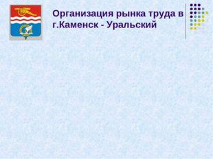 Организация рынка труда в г.Каменск - Уральский